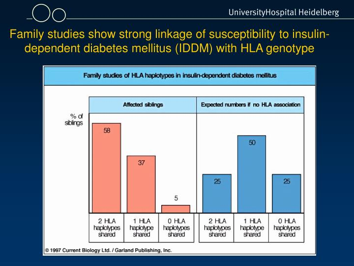 Family studies show strong linkage of susceptibility to insulin-dependent diabetes mellitus (IDDM) with HLA genotype