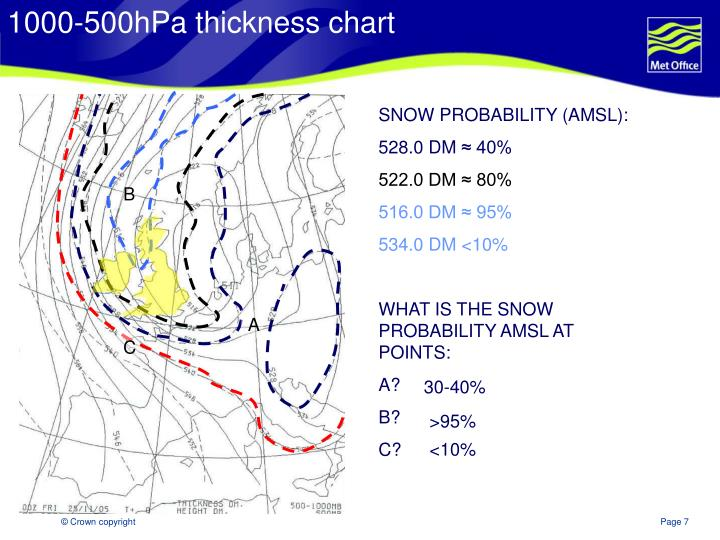 1000-500hPa thickness chart