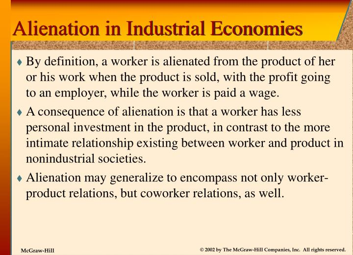 Alienation in Industrial Economies