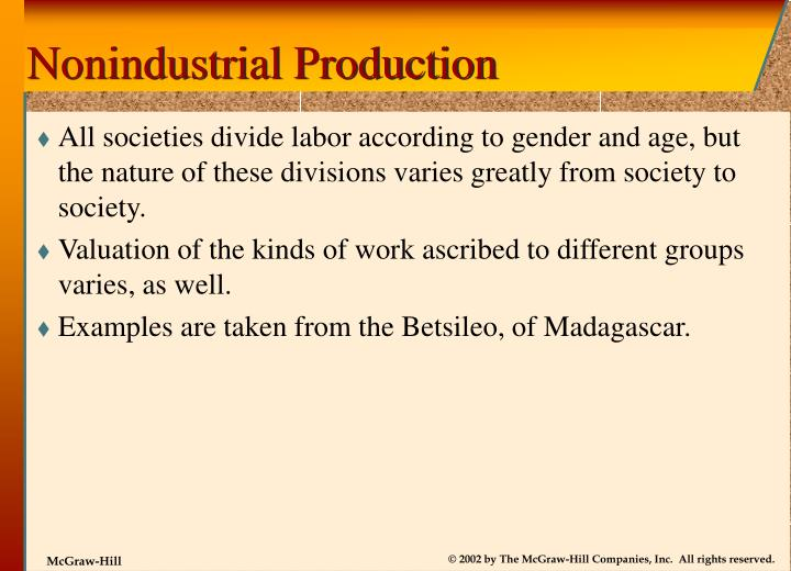 Nonindustrial Production