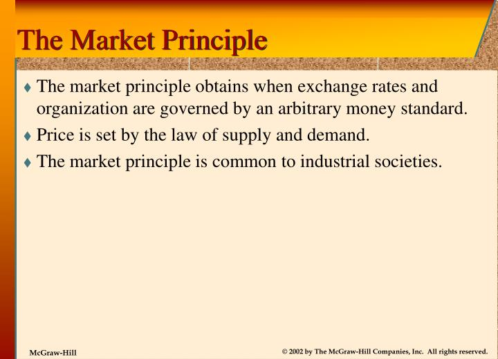 The Market Principle
