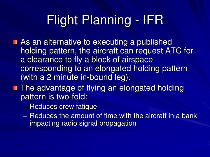 Flight Planning - IFR