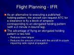 flight planning ifr