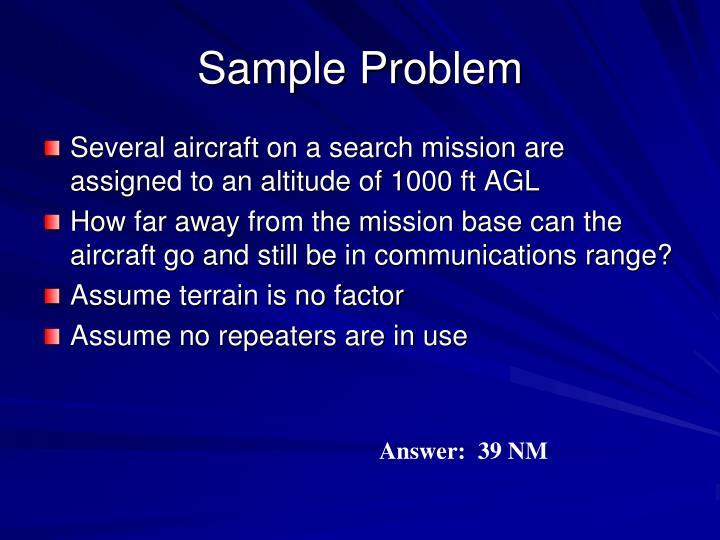 Sample Problem
