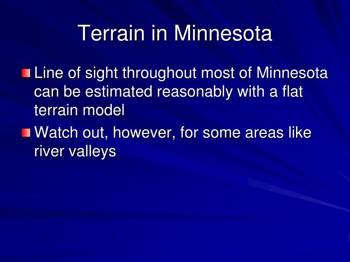 Terrain in Minnesota