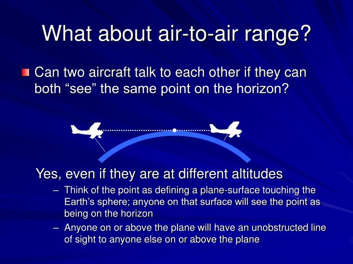 What about air-to-air range?