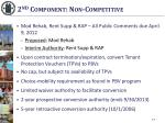 2 nd component non competitive