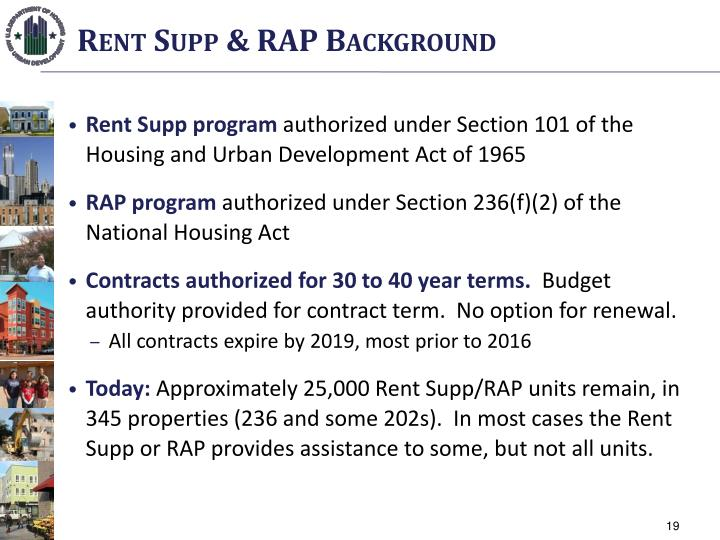 Rent Supp & RAP Background