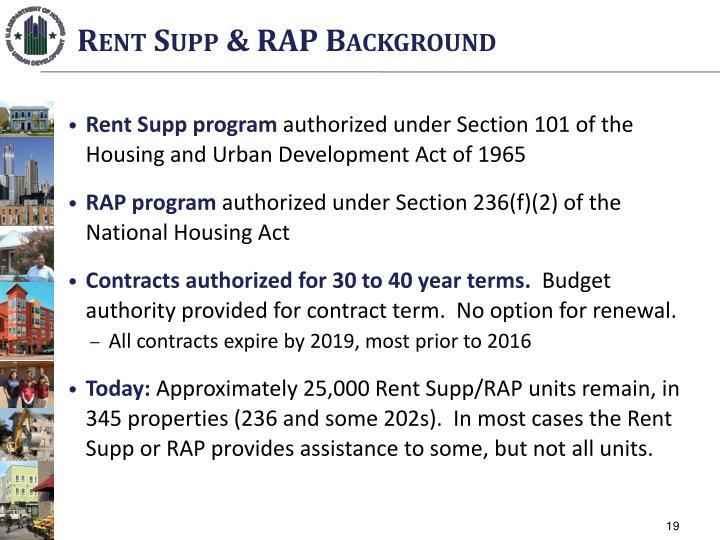 Rent Supp & RAP Background