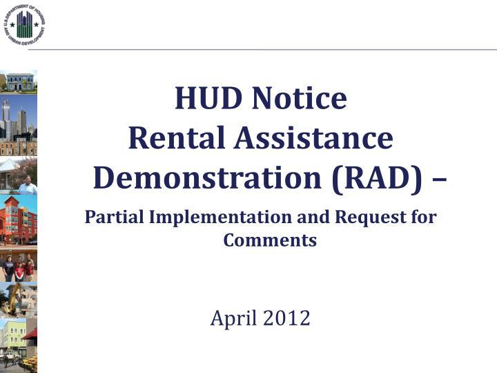 HUD Notice