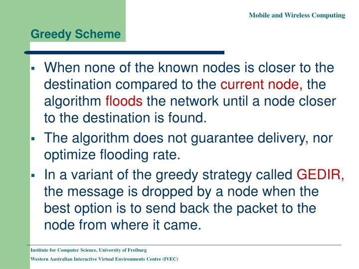 Greedy Scheme