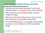 partial flooding and multi path based strategies1