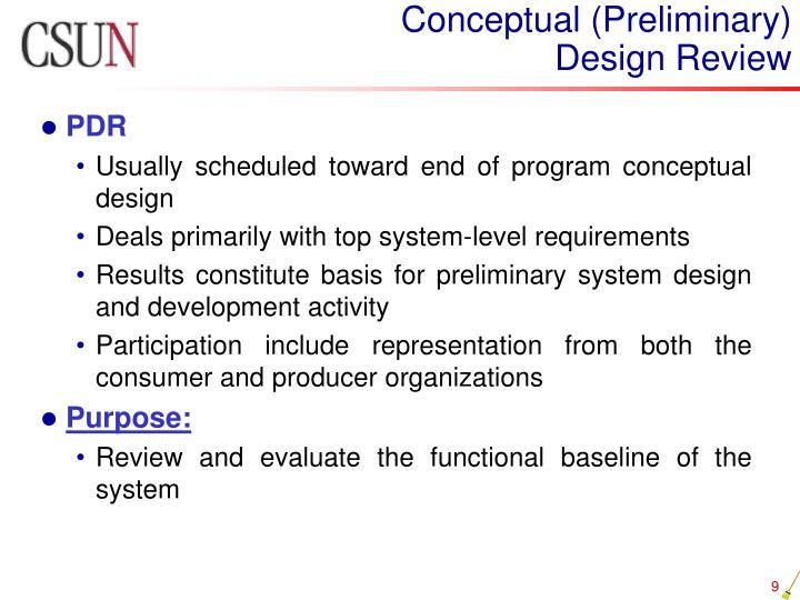 Conceptual (Preliminary)