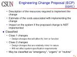 engineering change proposal ecp cont