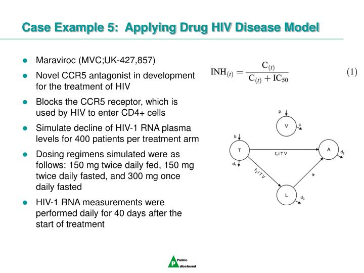 Case Example 5:  Applying Drug HIV Disease Model