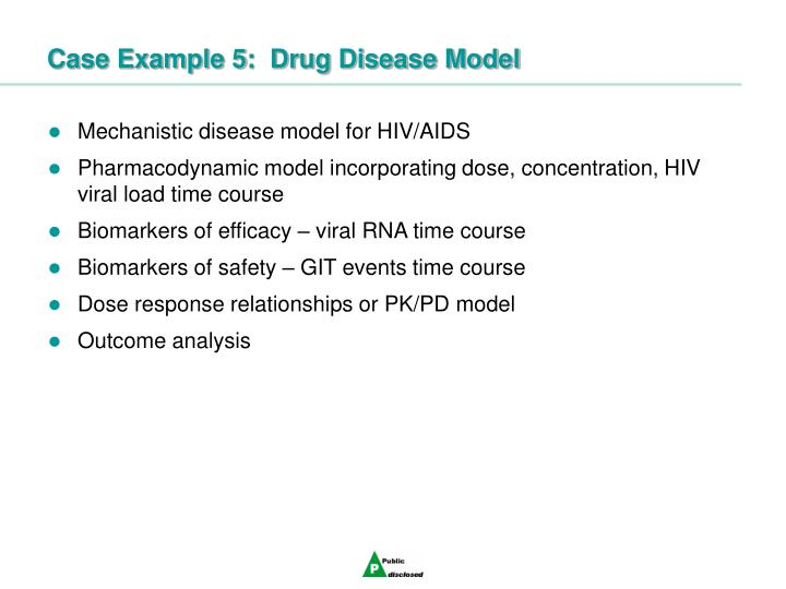 Case Example 5:  Drug Disease Model