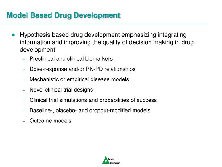 Model Based Drug Development