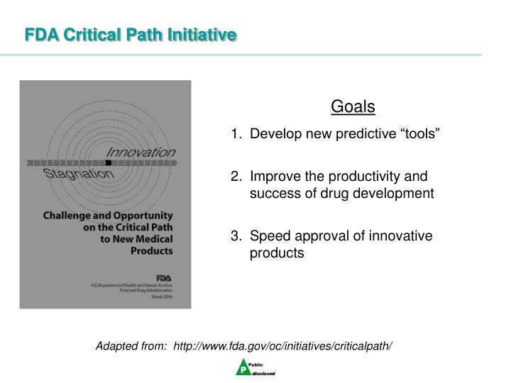 FDA Critical Path Initiative
