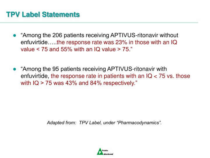 TPV Label Statements
