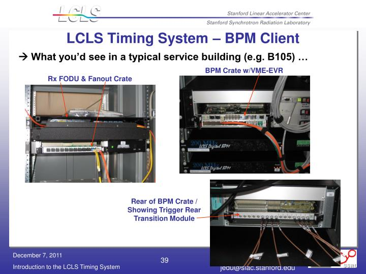 LCLS Timing System – BPM Client