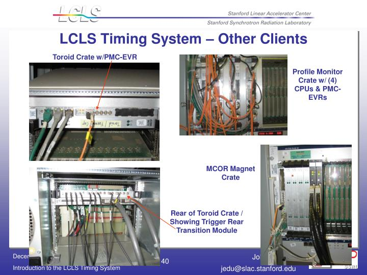 LCLS Timing System – Other Clients