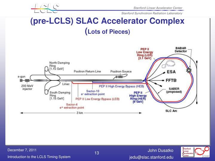 (pre-LCLS) SLAC Accelerator Complex