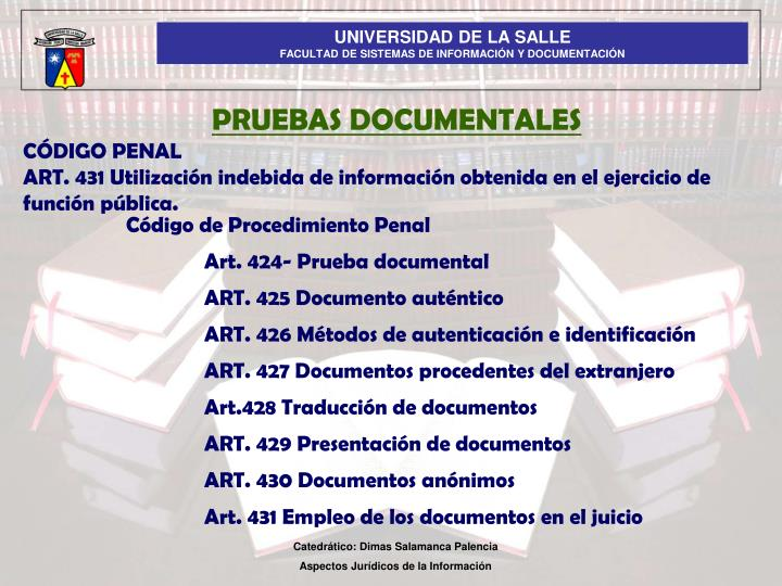 PRUEBAS DOCUMENTALES