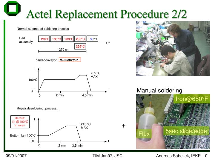 Actel Replacement Procedure 2/2