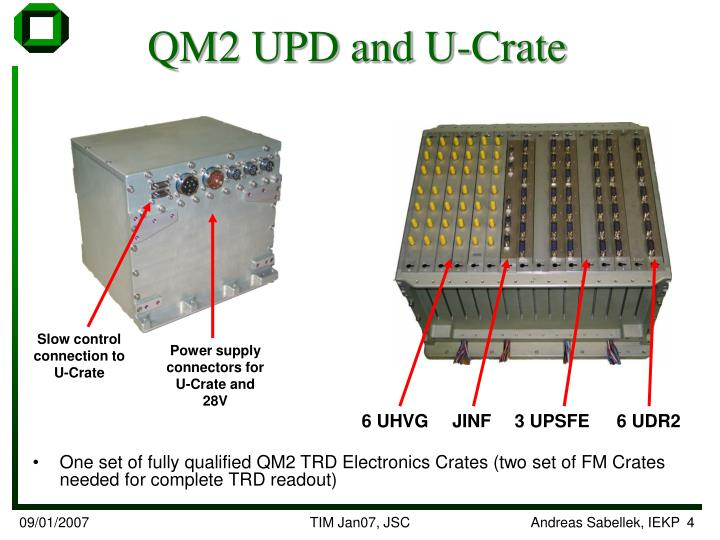 QM2 UPD and U-Crate
