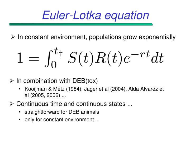 Euler-Lotka equation