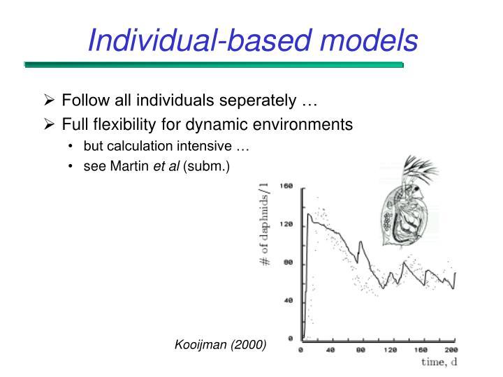 Individual-based models