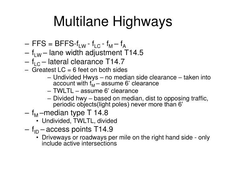 Multilane Highways