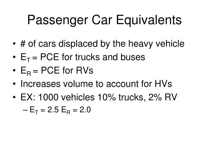 Passenger Car Equivalents