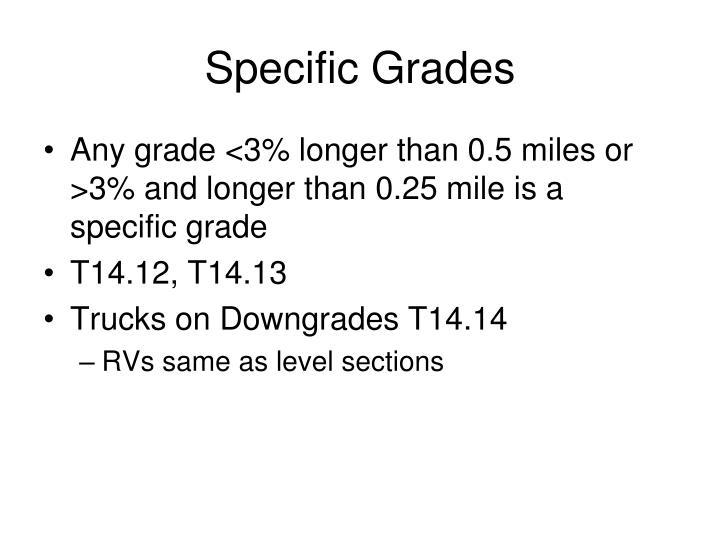 Specific Grades