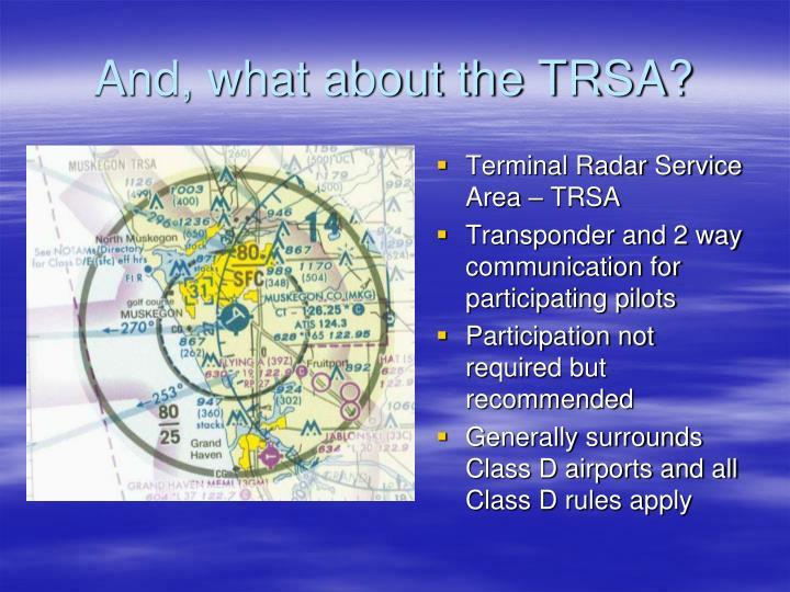 Terminal Radar Service Area – TRSA