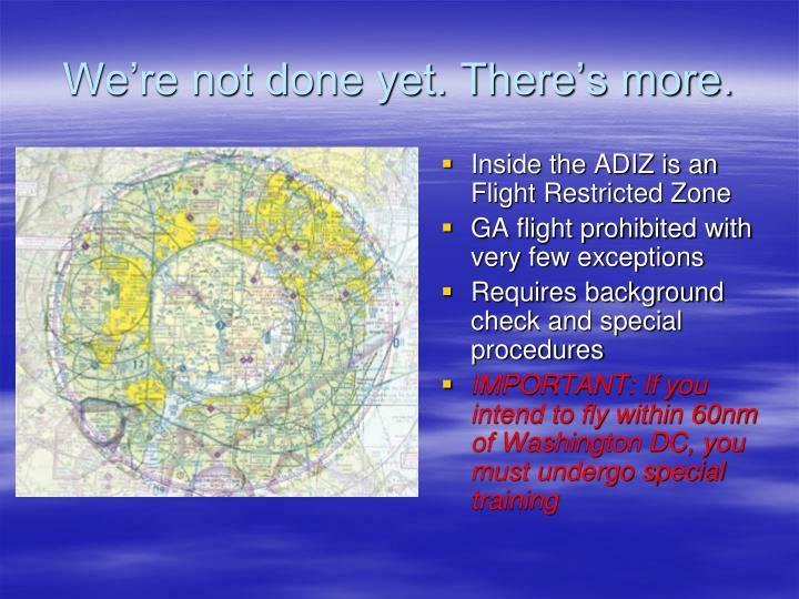 Inside the ADIZ is an Flight Restricted Zone