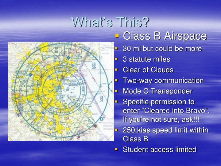 Class B Airspace