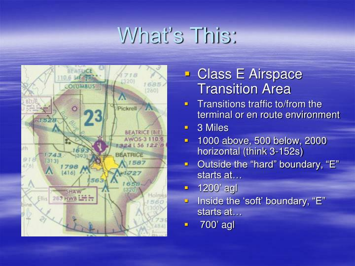 Class E Airspace Transition Area
