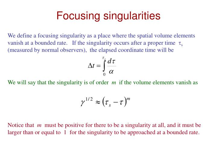 Focusing singularities
