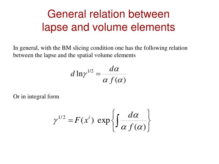 General relation between