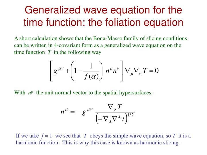 Generalized wave equation for the