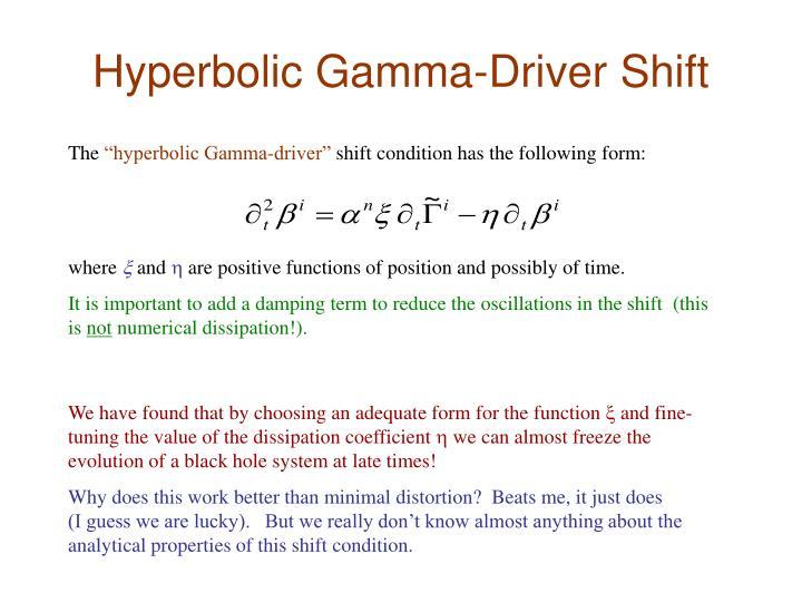 Hyperbolic Gamma-Driver Shift