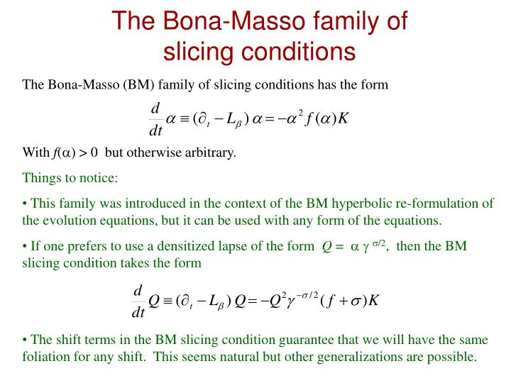 The Bona-Masso family of