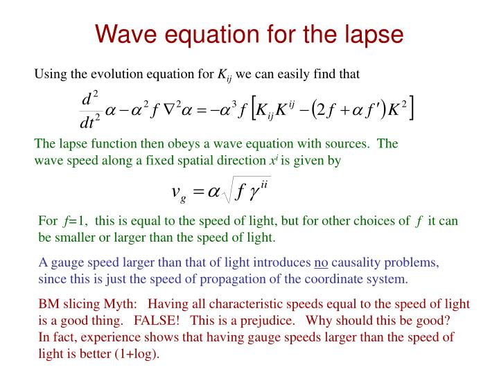 Wave equation for the lapse