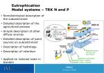 eutrophication model systems trk n and p