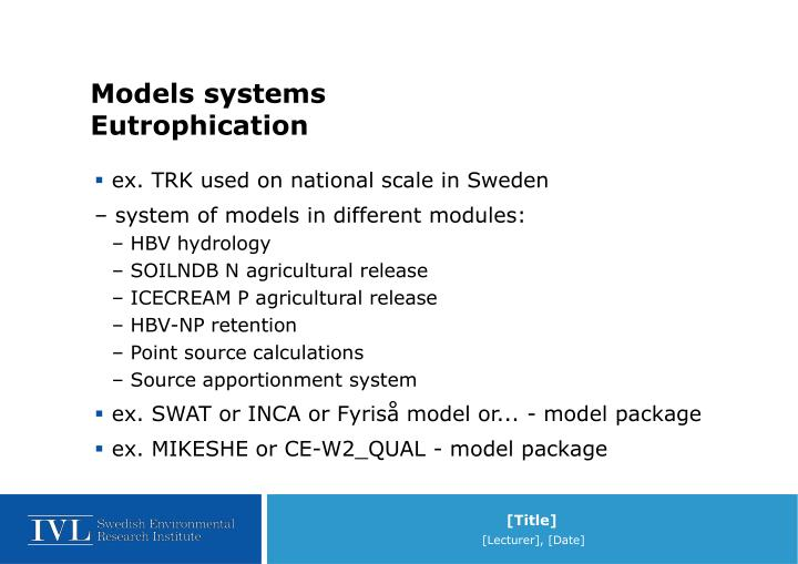 Models systems