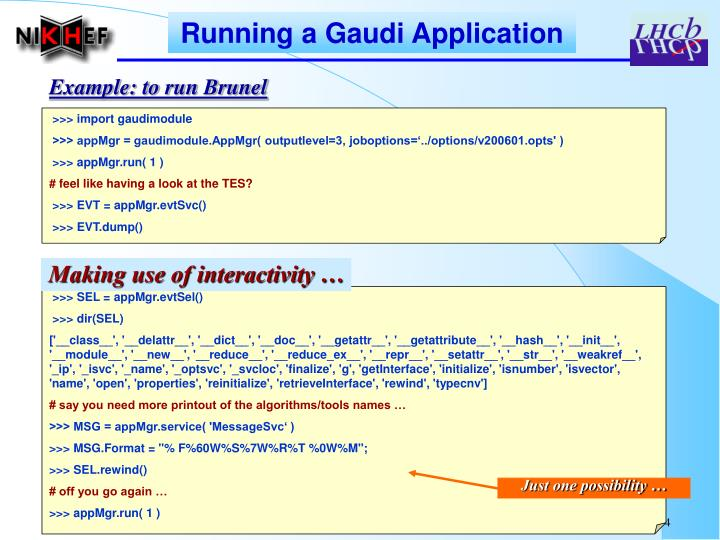 Running a Gaudi Application