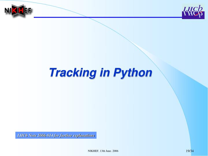 Tracking in Python