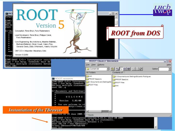ROOT from DOS