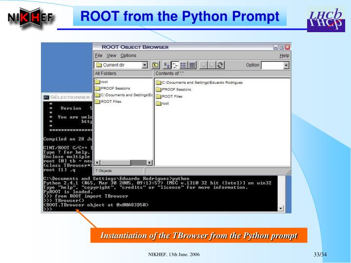 ROOT from the Python Prompt